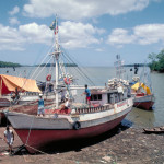 Low tide near the town of Vigia where brackish water occurs during part of the low water period of the Amazon River.